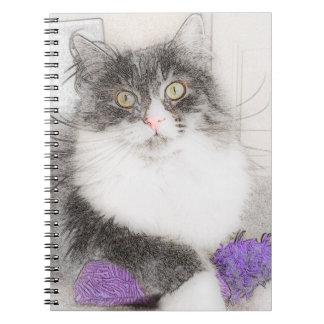 Siberian Cat Original Artwork Notebook