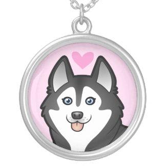 Siberian Husky / Alaskan Malamute Love Silver Plated Necklace