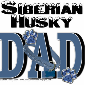 Siberian Husky DAD Standing Photo Sculpture