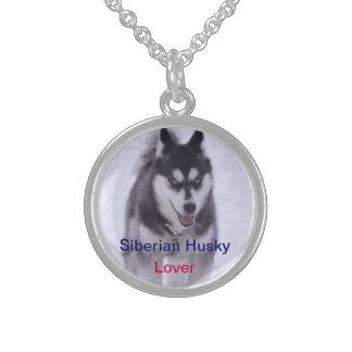 Siberian Husky Dog Lover Nicklace Sterling Silver Necklace