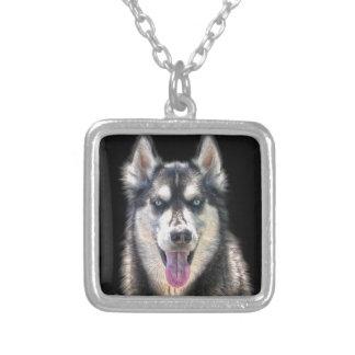 Siberian Husky Dog-lover's Pet Gift Range Silver Plated Necklace