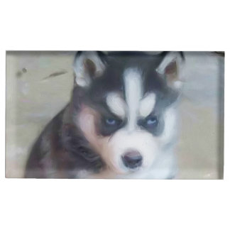 Siberian Husky dog Table Number Holder