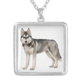 Siberian Husky Puppy Dog Necklace Pendant