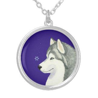 Siberian Husky Snowflake Necklace