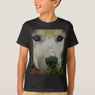 Siberian Husky waiting patiently T-Shirt