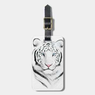 Siberian White Tiger Luggage Tag