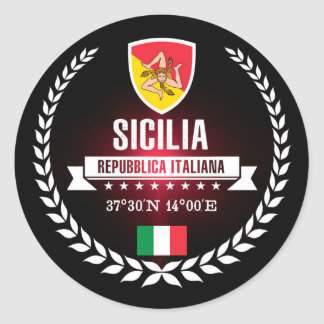 Sicilia Classic Round Sticker