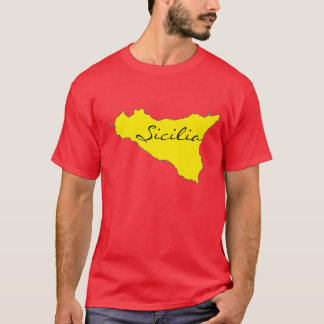 Sicilia Outline T-shirt