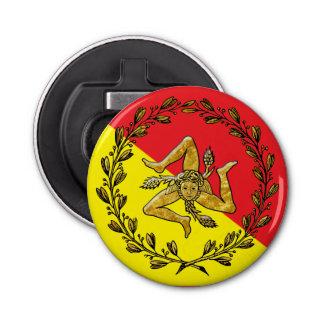 Sicilian Trinacria and Flag