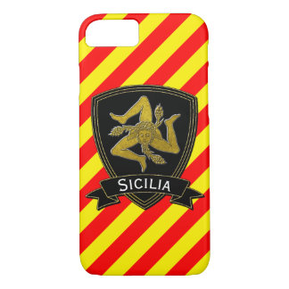 Sicilian Trinacria Black & Gold Red Yellow iPhone 8/7 Case
