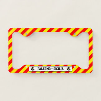 Sicilian Trinacria Your Text Licence Plate Frame