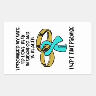 Sickness/Health...PCOS Rectangular Sticker
