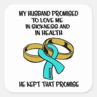 Sickness/Health...PCOS Square Sticker