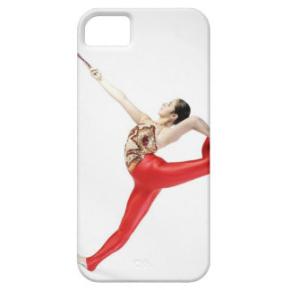 Side profile of a female gymnast practicing iPhone 5 cases