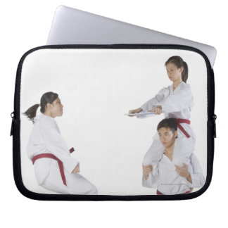 Side profile of a young man practicing 2 laptop sleeve