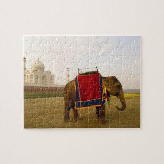 Side profile of an elephant, Taj Mahal, India Jigsaw Puzzle