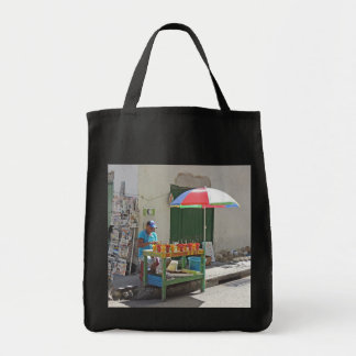 Sidewalk Fruit Vendor in Cartagena Colombia Tote Bag