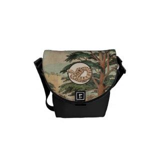 Sidewinder In Natural Habitat Illustration Courier Bags