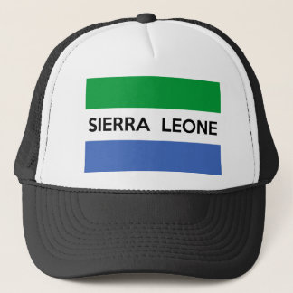 sierra leone flag country text name trucker hat