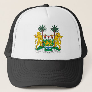 Sierra Leone Official Coat Of Arms Heraldry Symbol Trucker Hat