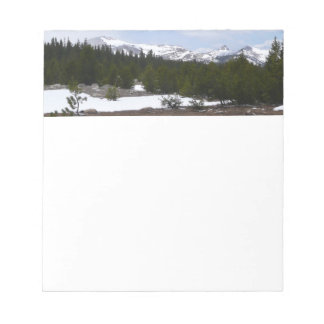 Sierra Nevada Mountains and Snow at Yosemite Notepad