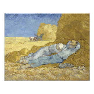 Siesta after Millet by Vincent Van Gogh Photo Print
