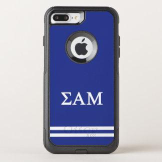 Sigma Alpha Mu   Sport Stripe OtterBox Commuter iPhone 8 Plus/7 Plus Case