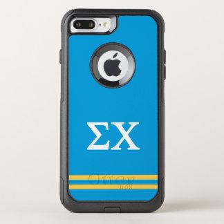 Sigma Chi   Sport Stripe OtterBox Commuter iPhone 8 Plus/7 Plus Case