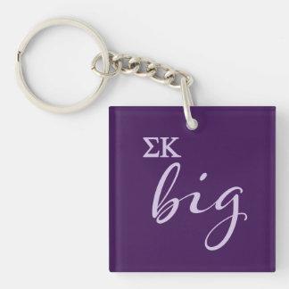 Sigma Kappa Big Script Key Ring