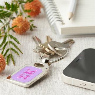 Sigma Kappa Pink Letters Key Ring