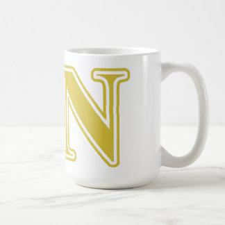 Sigma Nu Gold Letters Coffee Mug