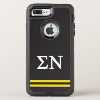 Sigma Nu   Sport Stripe OtterBox Defender iPhone 8 Plus/7 Plus Case