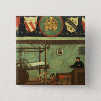Sign of the Venetian Weavers' Guild (panel) 15 Cm Square Badge