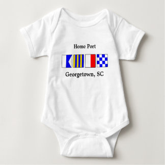 Signal Flag Port of Georgetown Baby Body Suit Baby Bodysuit