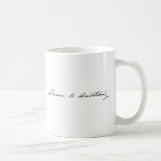 Signature of Suffragette Susan B. Anthony Coffee Mug
