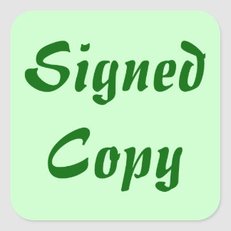 Signed Copy - Square Stickers (18)