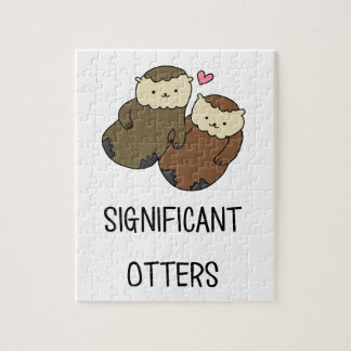 SIGNIFICANT OTTERS couple's shirts, accessories Jigsaw Puzzle