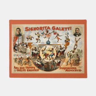 Signorita Galetti Troupe Performing Monkeys Circus Doormat