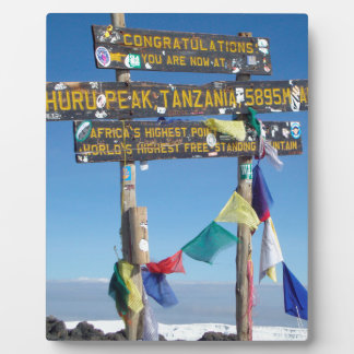 Signpost  on the  Summit of Kilimanjaro kenya Plaque