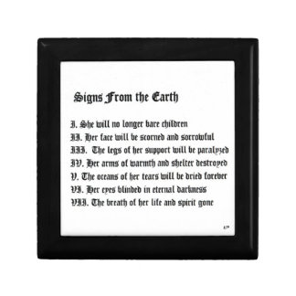 Signs From The Earth Small Square Gift Box