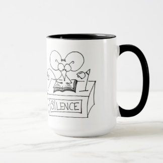 Silence! Library Mouse - Stickmice Mug
