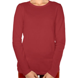 Silent Night Carol Womens' Holiday LS Red T-shirt