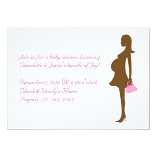 silhouette; baby shower card