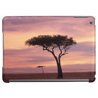 Silhouette image of acacia tree at sunrise cover for iPad air