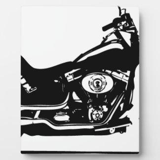 silhouette motorcycle plaque