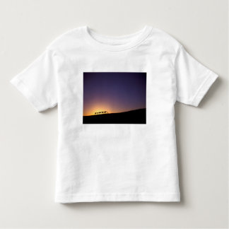 Silhouette of camel caravan on the desert at toddler T-Shirt