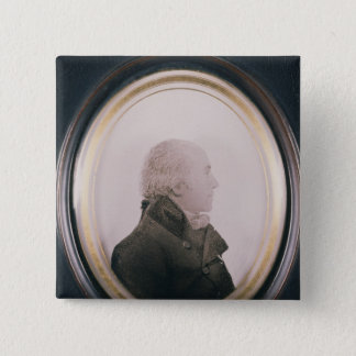Silhouette of Major Lewis Painted on Convex 15 Cm Square Badge