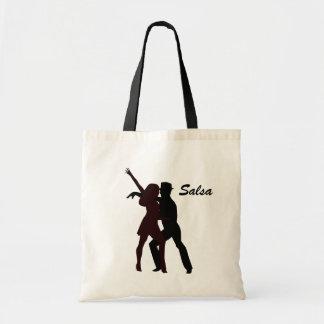 Silhouette of Salsa Dancers Tote Bag
