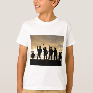 Silhouette of Soldiers in 101st Airborne Division Tees