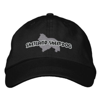 Silhouette Shetland Sheepdog Embroidered Hat